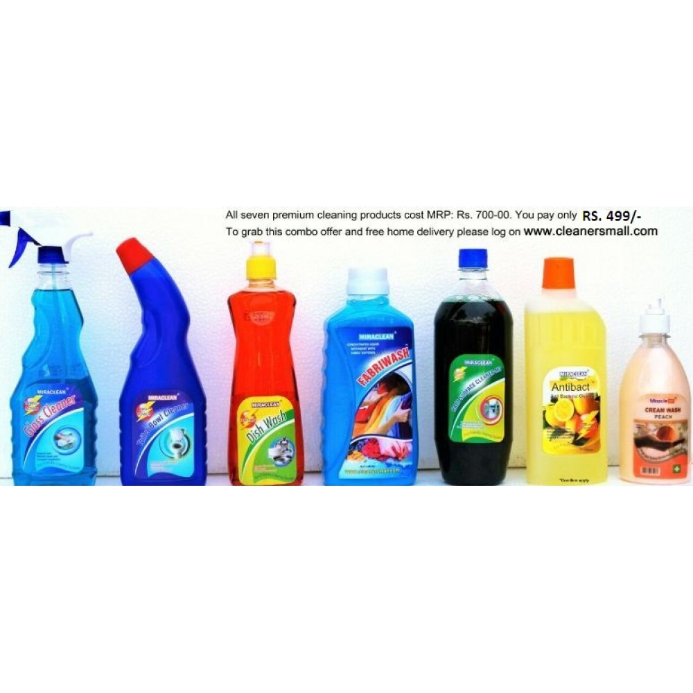 Seven Premium Cleaning Products Combo