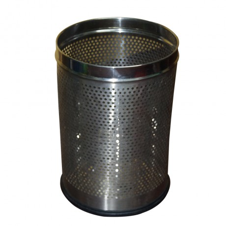 Stainless Steel Dust Bin Round Perforated